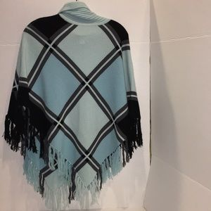 💕💕 Nordstrom Poncho Wool/ Cashmere Sz OS